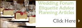 Wedding Advice, ideas
