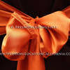 Chocolate Chair Cover With Orange Sash