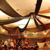 Autumn Color Reception With Ceiling Drapings