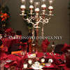 Elegant Silver Candle Obera Centerpiece