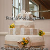 Tan And White Fondant Wedding Cake