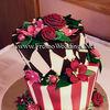 Mad Hatter Style Fondant Wedding Cake