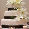 White Fondant Wedding Cake With Ribbon Trim