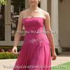 Hot Pink Bridesmaid Dress