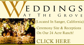 Sanger Weddings, Outdoor Garden Wedding Site