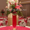 Red Theme Wedding Centerpiece