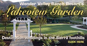 Wonder Valley Ranch Resort Garden Wedding Ceremony Location